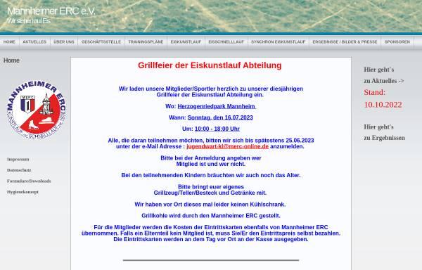 Vorschau von www.merc-ks.de, Mannheimer ERC Kunstlauf und Schnellauf e.V.