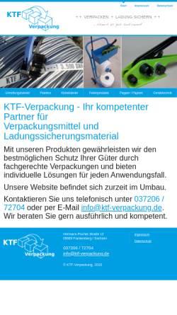 Vorschau der mobilen Webseite www.ktf-verpackung.de, KTF-Verpackung