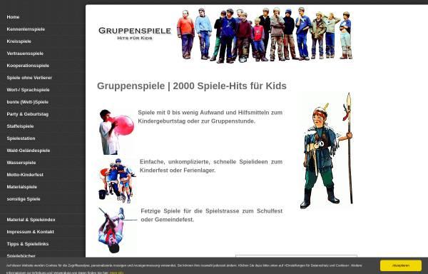 Vorschau von www.gruppenspiele-hits.de, Spiele Hits für Kids