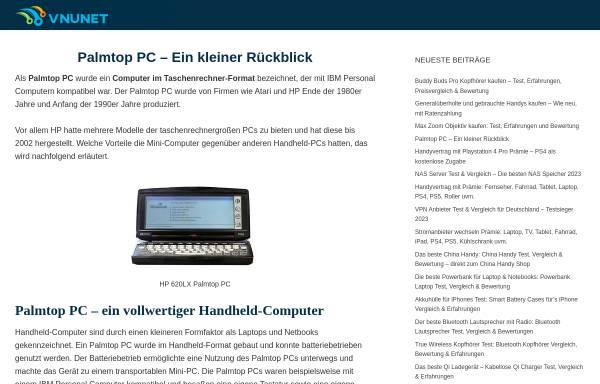 Vorschau von palmtopmagazin.de, Palmtop & Smartphone Magazin