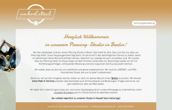 Vorschau von naked-steel.de, Naked Steel, Dirk Hückler