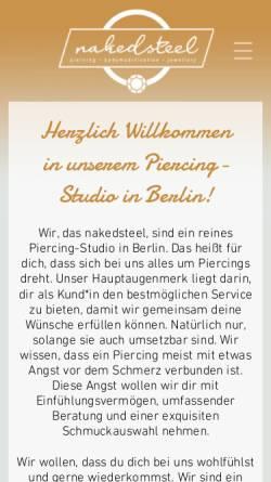 Vorschau der mobilen Webseite naked-steel.de, Naked Steel, Dirk Hückler