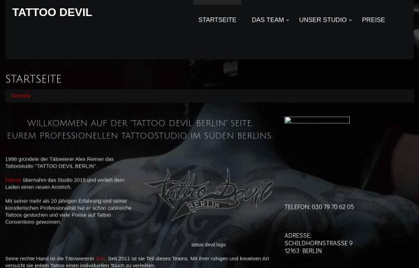 Vorschau von www.tattoo-devil.de, Tattoo Devil, Alex Reimer
