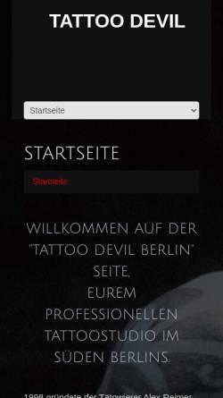 Vorschau der mobilen Webseite www.tattoo-devil.de, Tattoo Devil, Alex Reimer