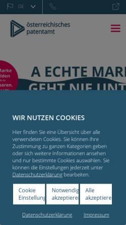 Vorschau der mobilen Webseite www.patentamt.at, Österreichisches Patentamt