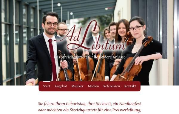 Vorschau von www.streichquartett-ad-libitum.de, Ad Libitum