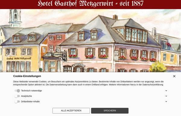 Vorschau von www.metzgerwirt.de, Gasthof Metzgerwirt