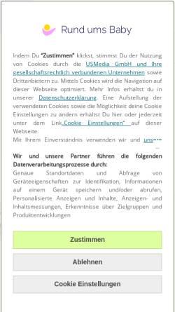 Vorschau der mobilen Webseite www.rund-ums-baby.de, Rund ums Baby