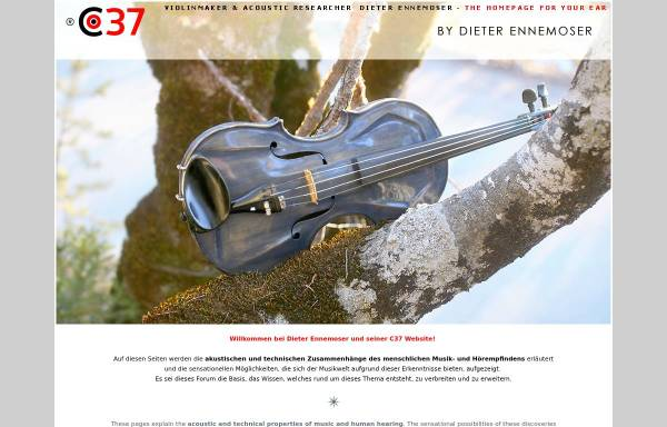 Vorschau von www.ennemoser.com, Akustikforscher und Violinenbauer [Ennemoser, Dieter]