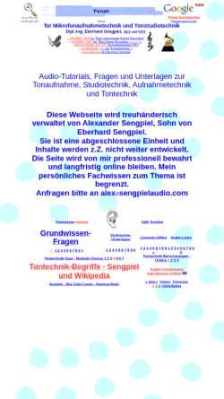Vorschau der mobilen Webseite www.sengpielaudio.com, Forum für Mikrofonaufnahme und Tonstudiotechnik