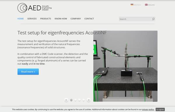 Vorschau von www.akustikforschung.de, Gesellschaft für Akustikforschung Dresden mbH