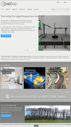 Vorschau der mobilen Webseite www.akustikforschung.de, Gesellschaft für Akustikforschung Dresden mbH