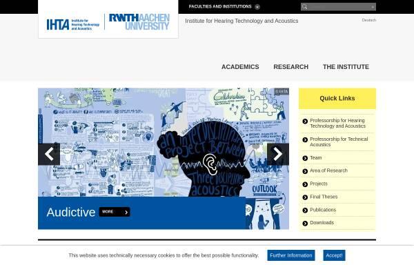 Vorschau von www.akustik.rwth-aachen.de, Institut für Technische Akustik der RWTH Aachen