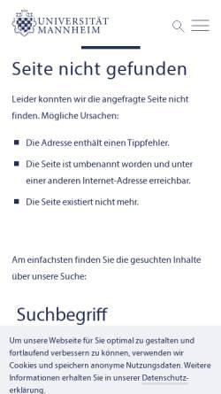 Vorschau der mobilen Webseite www.uni-mannheim.de, Räumliches Hören [van Ackern,Nina und Lindenberg, Markus]