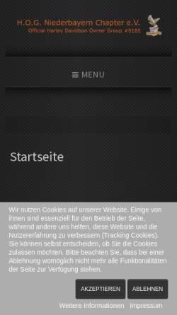 Vorschau der mobilen Webseite www.niederbayern-chapter.de, HOG Niederbayern-Chapter