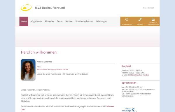 Vorschau von www.dachau-med.de, Landry, Dr. med. Wilfred, Wilhelm, Dr. med. Karl, Kindermann, Dr. med. Thomas,