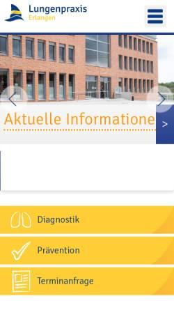 Vorschau der mobilen Webseite www.lungenpraxis-erlangen.de, Lehnert, Dr. med. Guido
