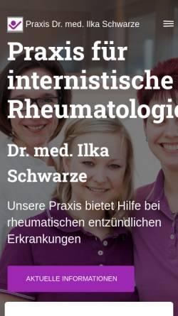 Vorschau der mobilen Webseite www.rheuma-internist.de, Schwarze, Dr. med. Ilka