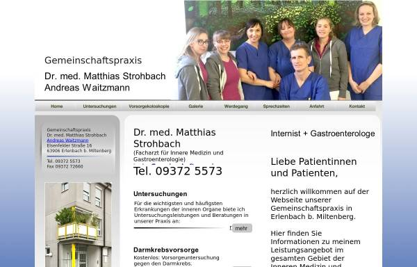 Vorschau von www.internist-strohbach.de, Strohbach, Dr. med. Matthias