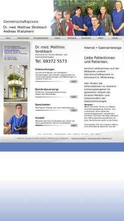 Vorschau der mobilen Webseite www.internist-strohbach.de, Strohbach, Dr. med. Matthias