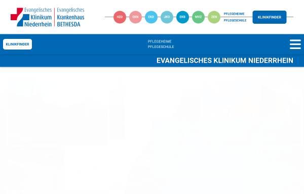 Vorschau von www.ejk.de, Evangelisches und Johanniter Klinikum Niederrhein gGmbH