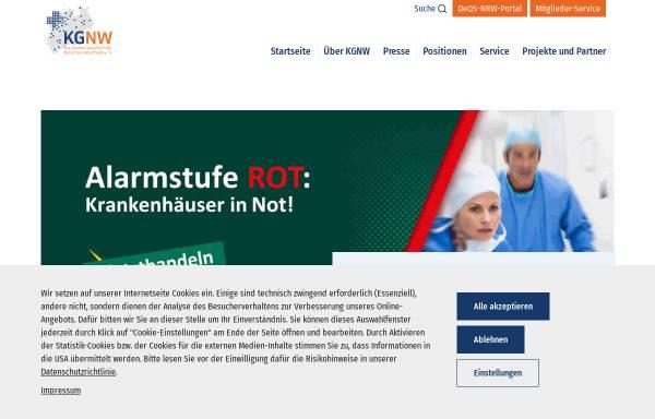 Vorschau von www.kgnw.de, Krankenhausgesellschaft Nordrhein-Westfalen e.V. (KGNW)