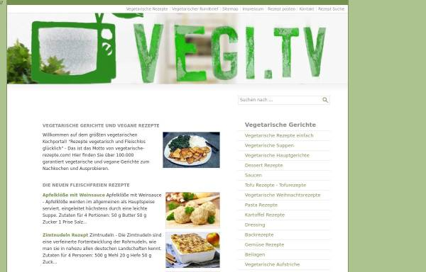 Vorschau von www.vegetarische-rezepte.com, Vegetarische Rezepte & vegane Kochideen