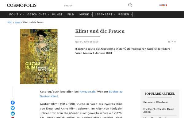 Vorschau von cosmopolis.ch, Gustav Klimt und die Frauen