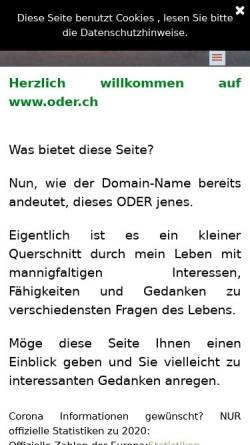 Vorschau der mobilen Webseite www.oder.ch, Die Schweizer Priesterseite