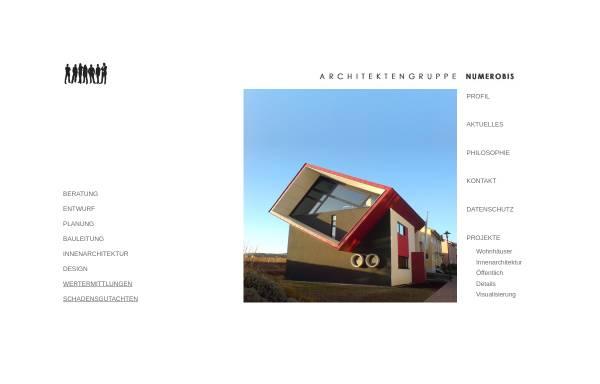 Vorschau von www.architektengruppe-numerobis.de, Numerobis, Architektengruppe