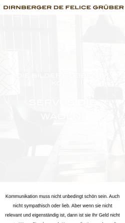 Vorschau der mobilen Webseite www.ddfg.at, Dirnberger De Felice