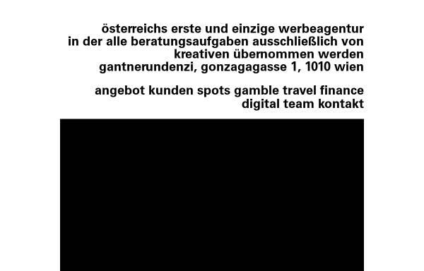 Vorschau von www.gantnerundenzi.at, gantnerundenzi werbeagentur gmbh