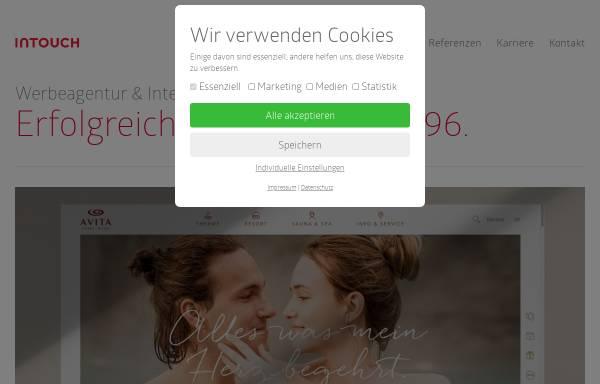 Vorschau von www.intouch.at, Intouch Werbeagentur Maurer-Schalk-Wenzl OEG