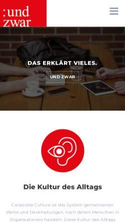 Vorschau der mobilen Webseite www.ipu.at, I-Punkt Werbeagentur GmbH