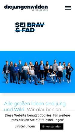 Vorschau der mobilen Webseite www.diejungenwilden.at, Die Jungen Wilden Werbeagentur GmbH