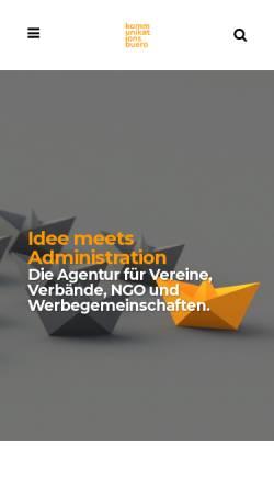 Vorschau der mobilen Webseite www.kommunikationsbuero.at, Kommunikationsbüro GmbH
