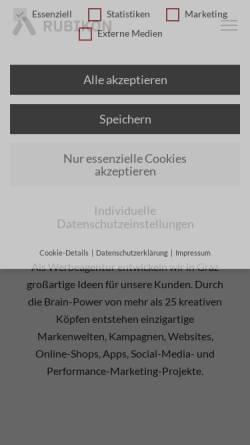 Vorschau der mobilen Webseite www.rubikon.at, Rubikon Werbeagentur GmbH