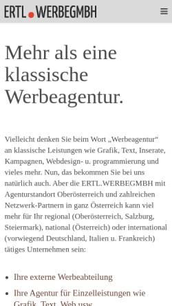 Vorschau der mobilen Webseite www.werbegmbh.at, Salzkammergut Werbeagentur