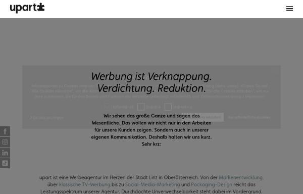 Vorschau von www.upart.at, Upart Werbung und Kommunikation GmbH