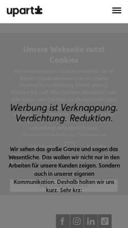 Vorschau der mobilen Webseite www.upart.at, Upart Werbung und Kommunikation GmbH
