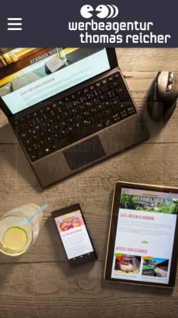 Vorschau der mobilen Webseite www.reicher.at, Werbeagentur Arnold Reicher GmbH