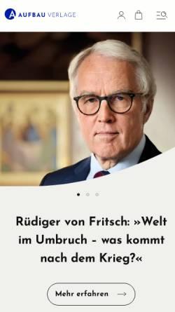 Vorschau der mobilen Webseite www.aufbau-verlag.de, Aufbau-Verlagsgruppe