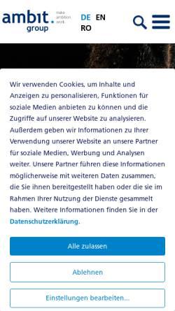 Vorschau der mobilen Webseite www.ambit.ch, Ambit AG