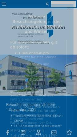 Vorschau der mobilen Webseite www.krankenhaus-winsen.de, Krankenhaus Winsen