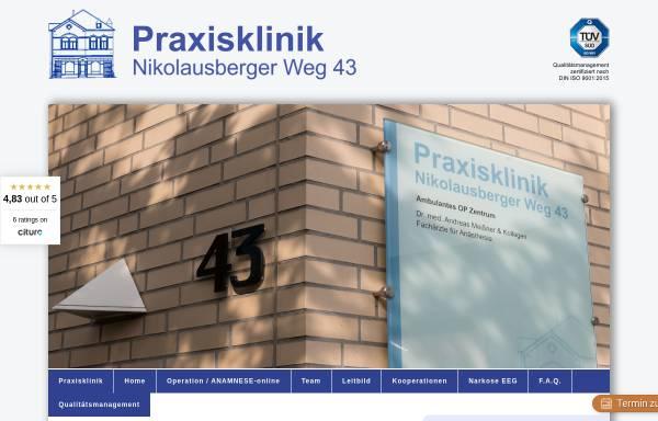 Vorschau von www.ambulantoperieren.de, Praxisklinik für ambulantes Operieren Göttingen