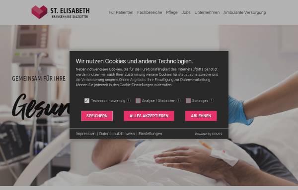 Vorschau von www.st-elisabeth-sz.de, St. Elisabeth-Krankenhaus Salzgitter