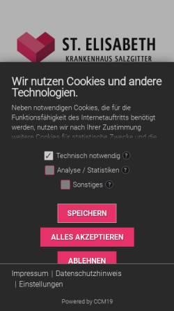 Vorschau der mobilen Webseite www.st-elisabeth-sz.de, St. Elisabeth-Krankenhaus Salzgitter