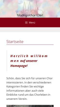 Vorschau der mobilen Webseite madrigalchor-werl.de, Madrigalchor Werl