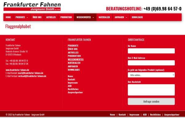 Vorschau von www.frankfurter-fahnen.de, Flaggenalphabet
