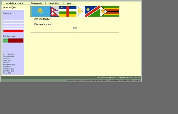Vorschau von www.jeder.at, Flaggen-Quiz